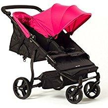 Baby Monsters Silla Gemelar Easy Twin Color Fucsia + Textil Adicionalde Regalo en Otro Color