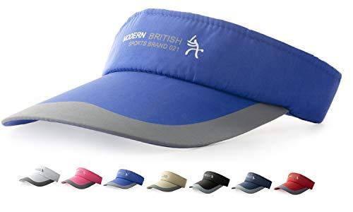 HYSENM Visor Baumwolle Einheitsgröße Unisex Cap mit Klettverschluss Einstellbar Anti-UV für Reisen Radsport Tinnesspielen Kappe (Blau)