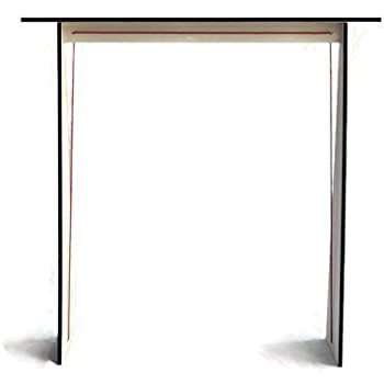 GeoGlass Small Clear Glass Console Table with Tempered Safety