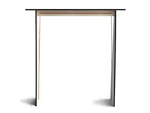 """28""""x7""""x28"""" Wooden narrow console table for living room with a string 20 available colors as white Made of poplar plywood Flat pack furniture Contemporary hallway tables design by italian designer Laser cut wood and handmade in Italy"""