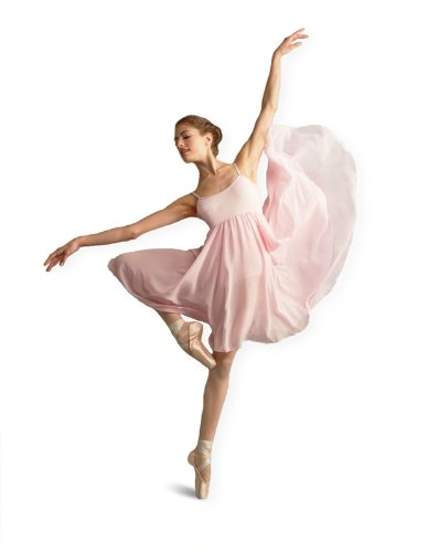capezio-bg001-empire-vestido-color-rosa-tamano-xs