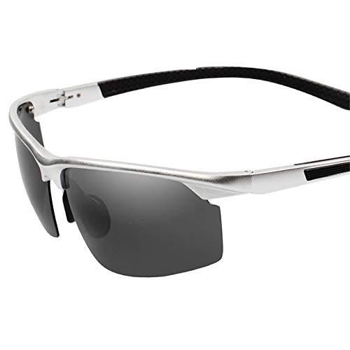 Yiph-Sunglass Sonnenbrillen Mode Herren- und Damenbrillen Radsport-Sportbrillen Nachtsichtbrillen Angeln Radfahren Outdoor-Sportbrillen Sonnenbrillen (Farbe : Silber, Größe : Free Size)