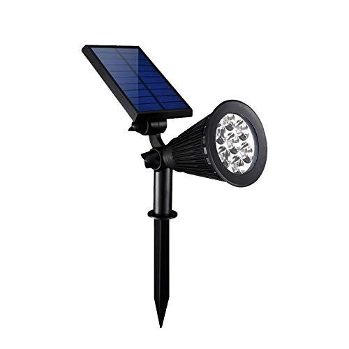 SKKMALL Solarleuchte für Rasen, 7 LEDs, wasserdicht, Kontrolle des Lichts, für Garten, Hof, Landschaftsbeleuchtung schwarz - Kostenlose Bronzer