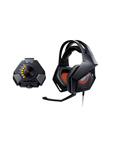 Asus Strix DSP 7.1 Canali Virtuali Cuffie Gaming, Audio Station USB, Microfono Removibile, Effetti Sonori 3D, Compatibilità PC/PS4/MAC