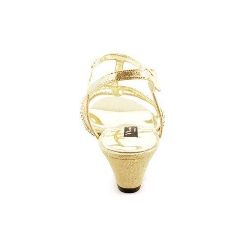 Nina Frauen Fresno -YS Platform Sandalen Latte Reflectiv