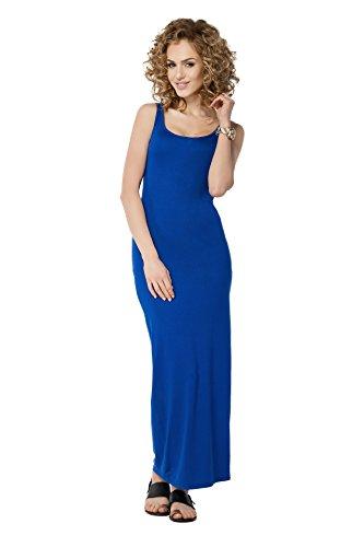 FUTURO FASHION - Robe - Moulante - Sans Manche - Femme Rouge Rouge Bleu - Bleu marine