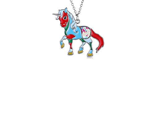 DESIGN FREUNDE Kette Schmuck Damenschmuck Damenkette mit Anhänger Happy Einhorn