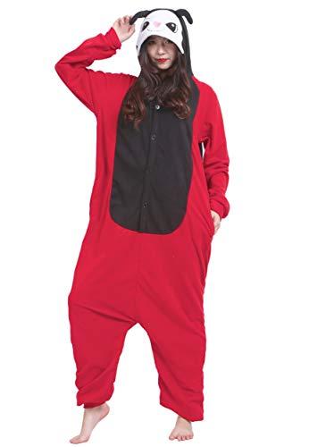Jumpsuit Onesie Tier Karton Fasching Halloween Kostüm Sleepsuit Cosplay Overall Pyjama Schlafanzug Erwachsene Unisex Lounge Kigurumi Marienkäfer for Höhe 140-187CM