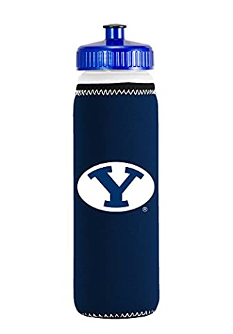 NCAA BYU Cougars Van Metro Squeezable LDPE Water Bottle, Blue, 22-Ounce