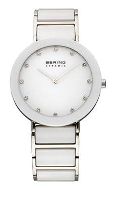 Bering Ceramic - Reloj analógico de mujer de cuarzo con correa de varios materiales multicolor - sumergible a 50 metros de Bering