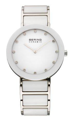 Bering Ceramic – Reloj analógico de mujer de cuarzo con correa de varios materiales multicolor – sumergible a 50 metros