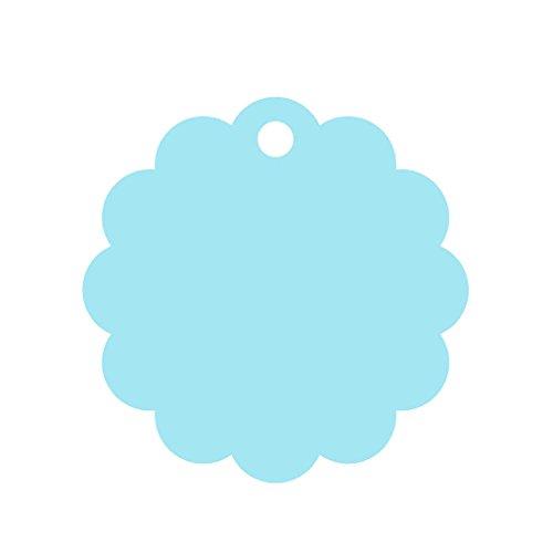 �ck Blau 60mm Blumen Geschenk Anhänger Papieranhänger Hängeetiketten Tags Labels zum Selbstgestalten Hochzeit Baby Party Etikett Gastgeschenke DIY Deko Preisetiketten Preisschild Schilder Anhänger Gepäckanhänger (Dankeskarten Baby)
