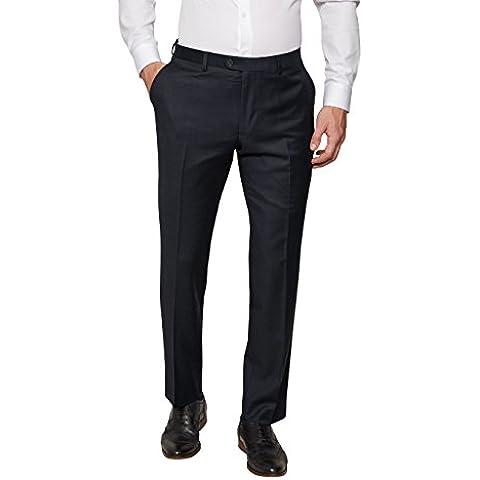 next Hombre Pantalones De Traje De Lana Pura Diseño De Zapa Con Botones Corozo