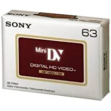 Sony DVM63HDV - Cinta de audio y video, 63 minutos