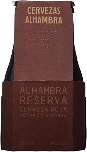 Alhambra Cerveza Roja Tostada - Paquete de 4 x 330 ml - Total: 1320 ml