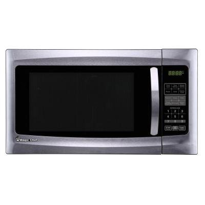 Magic Chef 1.6 Cu. Ft. Countertop Microwave in Stainless Steel by Magic Chef - Magic Mikrowelle Chef