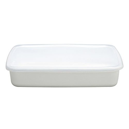 Food Strage Enamel Container 2.4 L -made in Japan by Noda Horo Storage Container