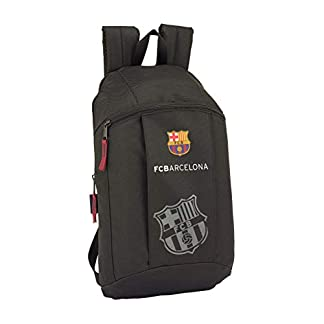 Safta –FC Barcelona Black Oficial Mini Mochila Uso Diario 220x100x390mm