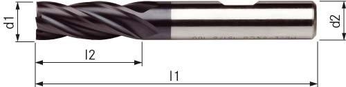 ORION FRESA DE MANGO HSSE8 TIALN DIN 844 DIAMETRO DE 18 0 MM