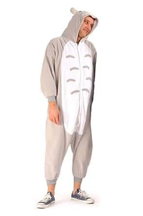 Souris–Pyjama Unisexe, combinaison, combinaison, Soirée, Fun Porter pour elle & lui–Combinaison blanc Étui à rabat -  gris - Taille unique