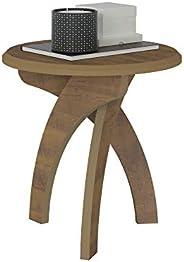 Artely Jade Side Table, Pine Brown - W 50 cm x D 50 cm x H 51.5 cm.