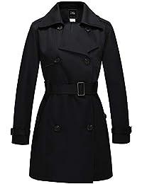 ZSHOW Femme Trench Coat Veste Double Boutonnage avec Ceinture Blouson  Automne Printemps Manteaux 8291a569887