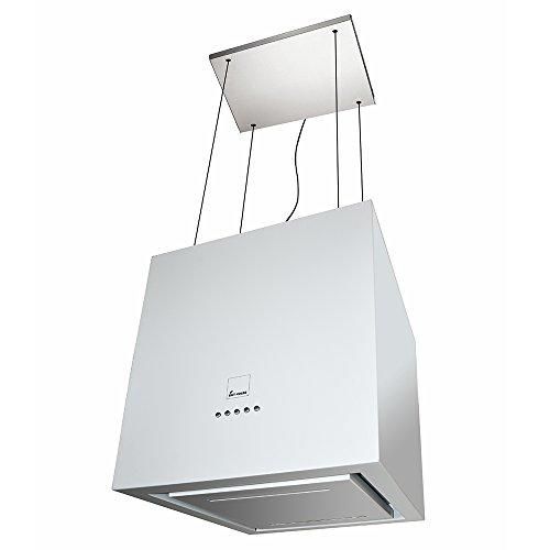 Insel-Dunstabzugshaube Design-Inselhaube/mit Fernbedienung/Unterseite leuchtend/weiß / LED Beleuchtung/Umluft / ART406ED / KKT KOLBE