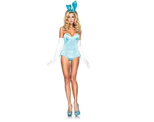 Halloween Meine Damen Erotische Dessous Bunny Schöne Zusammengeleitet Bunny Kostüm Einheitliche, Blau, One - Baby Blue Bunny Kostüm