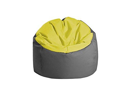 Jumbo Bag 30170-30 Pouf Globe Polyester Vert Anis/Anthracite 70 x 70 x 70 cm