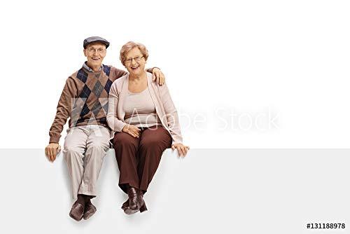 druck-shop24 Wunschmotiv: Happy Mature Couple Sitting on a Panel #131188978 - Bild auf Alu-Dibond - 3:2-60 x 40 cm / 40 x 60 cm