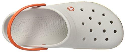 Crocs Crocband Tropical Ii, Sabots - Mixte adulte Blanc (Pearl White)