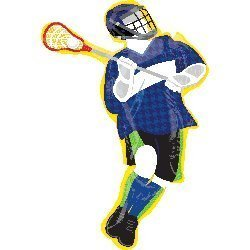 new 39 inch LACROSSE PLAYER birthday ANY OCCASION foil DECOR gift FAVORS pep RALLY team AWARDS NIGHT ()