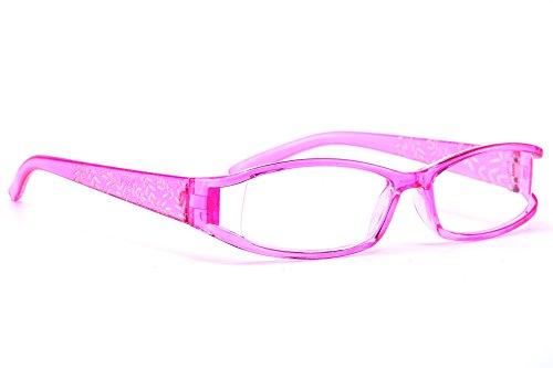 morefaz Damen Lesebrille Brille Laub Retro Vintage +0.50 +0.75 +1.0 +1.5 +2.0 +2.5 +3.00 +4.00 Reading glasses MFAZ Ltd (+2.5, Pink)