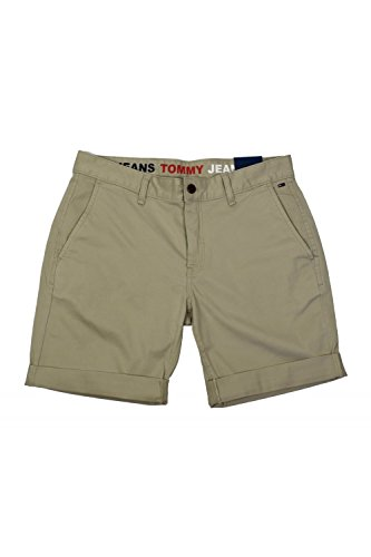 Tommy Jeans Herren Shorts Grau (Plaza Taupe 006)