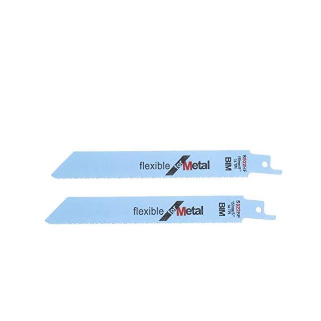 Lame EZARC 14TPI R922PM Lot de x5 de Scie Sabre pour la Coupe de Metal 225mm