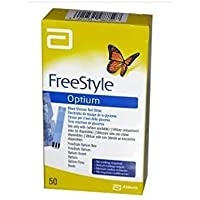 Freestyle Optium Tiras De Prueba De Glucosa En Sangre 1x 50