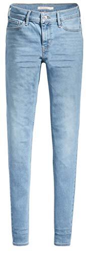 Levi`s Damen Jeans Hose 710 super Skinny 177800041 Aviator Blue 29/28 - Super Skinny Leg