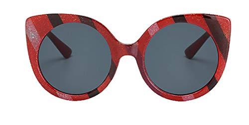 Tianba Mode Bunte Sonnenbrille Damen Anti UV Cat Eye Sonnenbrillen Kunststoff Brillen Large-Gerahmte Sommer Durable Zubehör