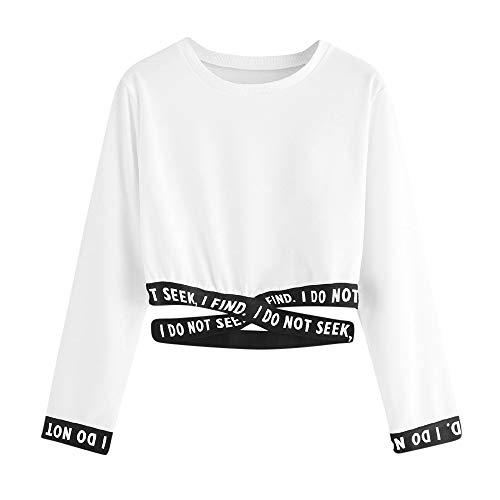 Damen Oberteile, Cramberdy T-Shirt Langarm Blumen Drucken Rundhals Beiläufig Lose Bluse Pullover Tops Sweatshirts Tuniken Sommer Herbst Damen Kapuzenpullover Frauen Kleidung