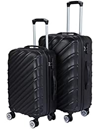 50f15afb71f 3G Combat 8023 Series 4Wheel Hard Sided Luggage ABS Set of 2 Trolley Travel Bag  Suitcase