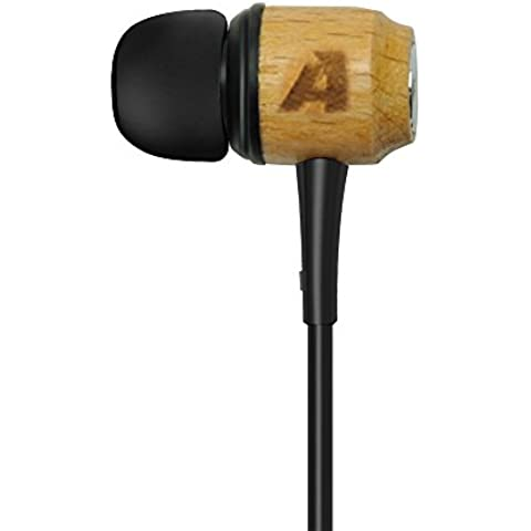 Arealer Auriculares In-Ear Estéreo Universal de Alta Calidad Material Madera de Cerezo para Mp3 PC iPhone Sony HTC Android Smartphones