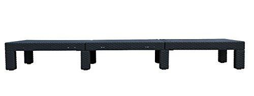 2er set allibert daytona sonnenliege kunststoff gartenmbel rattanoptik graphit g nstige. Black Bedroom Furniture Sets. Home Design Ideas