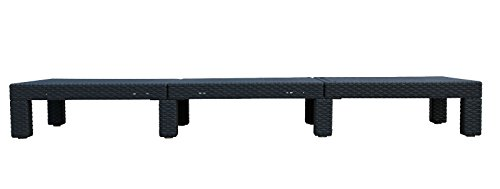 2er set allibert daytona sonnenliege kunststoff gartenm bel rattanoptik graphit top. Black Bedroom Furniture Sets. Home Design Ideas