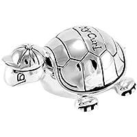 Brillibrum Design Lockendose Schildkröte Versilbert Namens-Gravur Haardose Taufgeschenk My Curl Baby Box Für Haarsträhne