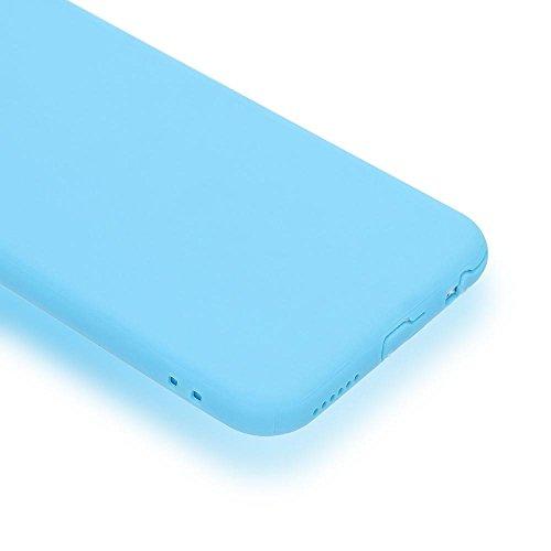 iPhone 6 6S Coeur Coque Silicone de NICA, Ultra-Fine Housse Protection Cover Slim Premium Etui, Mince Telephone Portable Gel Case Bumper Souple pour Apple iPhone 6S 6 Smart-Phone, Couleur:Pink Rose Bleu Sombre