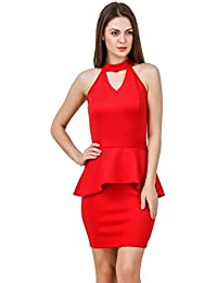 TEXCO Cut Out Neck Little Party Women Dress 070cc2be8