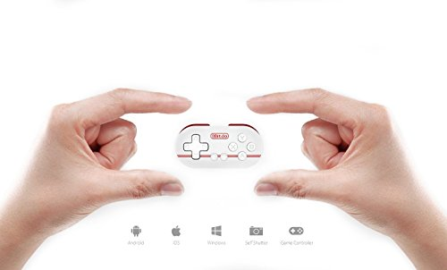 QUMOX 8bitdo FC30 Zéro Bluetooth Controlador Gamepad para iOS/Android/Windows/Mac, Rojo