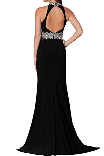 ivyd ressing robe robe col montant rueckenfrei Prom Party Soirée Robe Schwarz