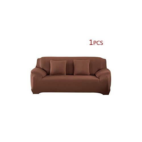 Womens Küste Abdeckung (Black-Sky Solid Color Elastic Stretch Sofa Cover Universal Slipcovers für Corner Schnittsofa Couch Möbel Sessel Abdeckungen Polyester, 11, DREI Sitzsofa)
