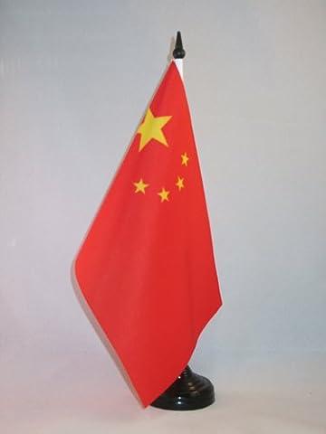 TISCHFLAGGE CHINA 21x14cm - CHINESISCHE TISCHFAHNE 14 x 21 cm - flaggen AZ FLAG